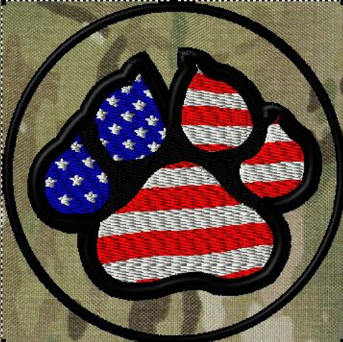 K9 American Flag VELCRO® Brand patch