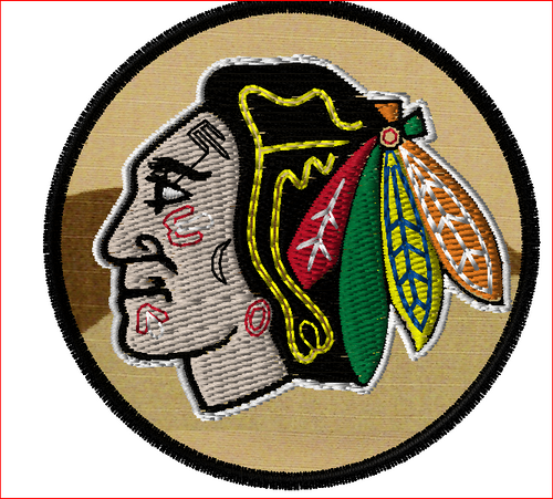 Blackhawks Tactical Sports Patch on 3CD