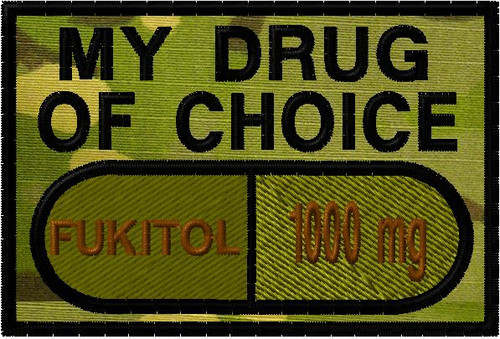 My drug of choice custom patch