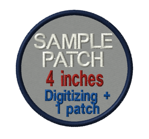 LARGE SAMPLE PATCH - 4 INCH SAMPLE PATCH + DIGITIZING