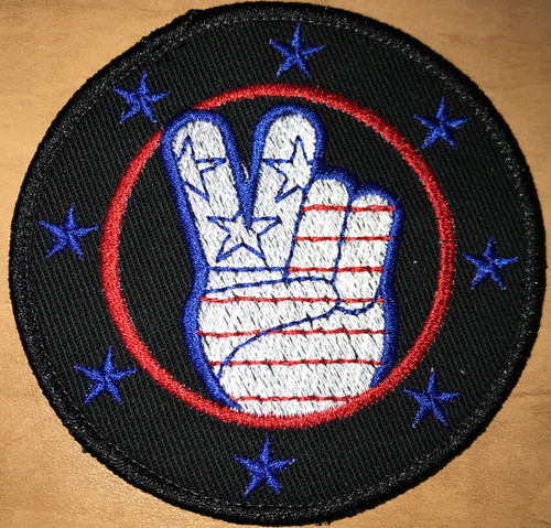 "USA Peace 3"" round Custom Velcro Patch"
