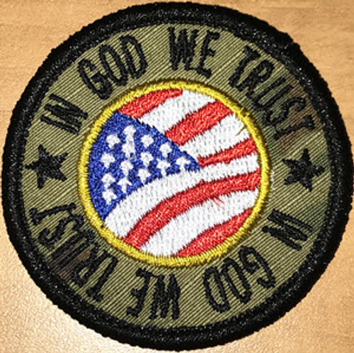 In God We Trust Custom Flag Patch
