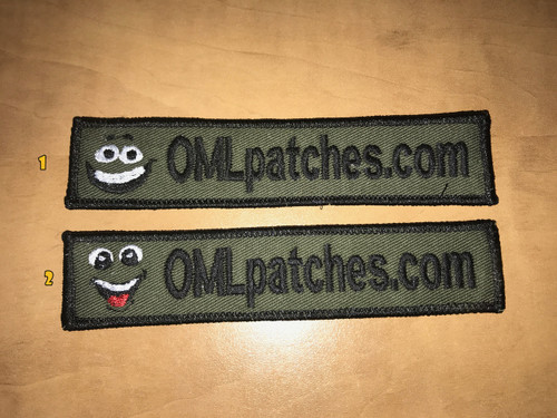 Merrowed Nametape Smiley Velcro patch