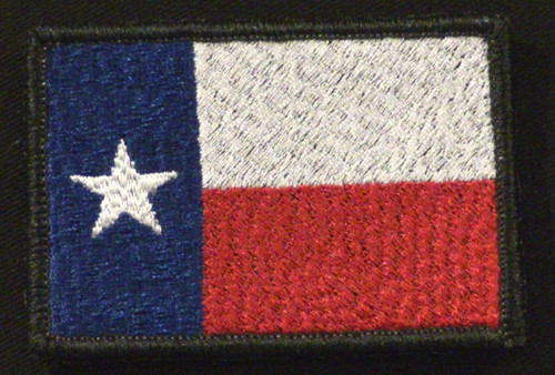 texas flag patch full color