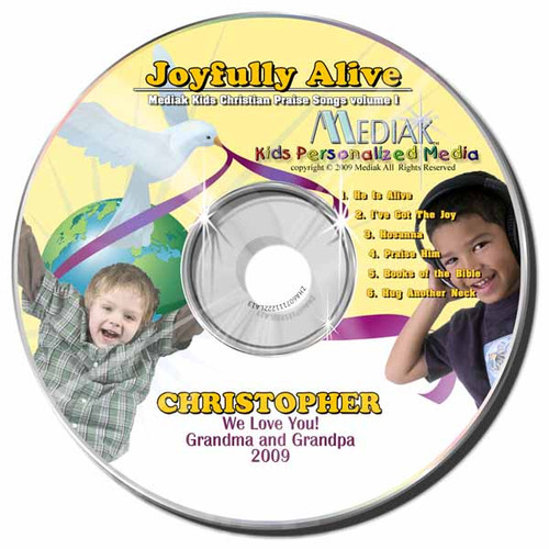 Joyfully Alive Personalized Kids Music CD