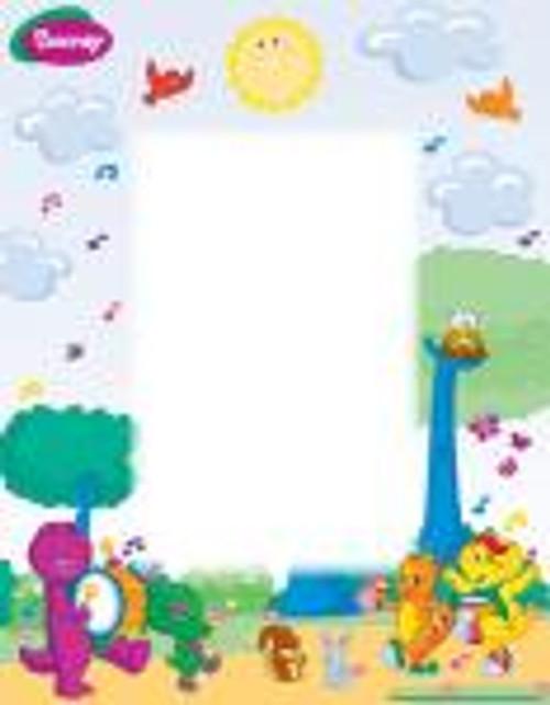 Barney Personalized Name Poem - Parade Background