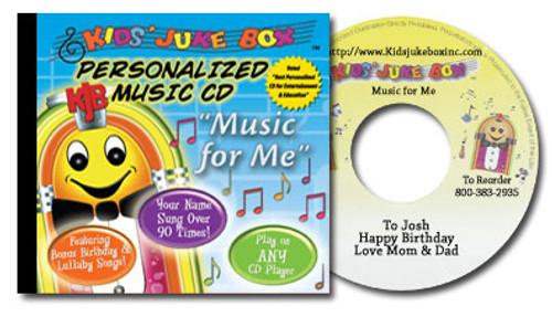 Kids Juke Box Music for Me Personalized Kids Music