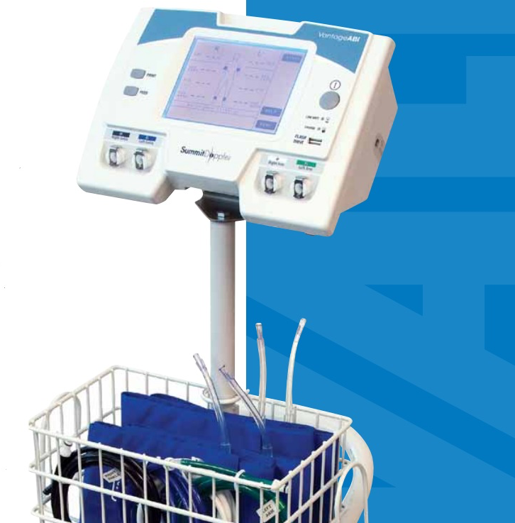 Vista ABI Vascular system includes on-screen guide, PVR, 8Mhz Doppler auto-cud inflation/deflation, sand, and 4 cuffs. Built-in printer.