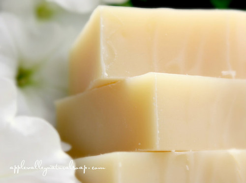 White China Silk Shampoo & Body Bar by Apple Valley Natural Soap