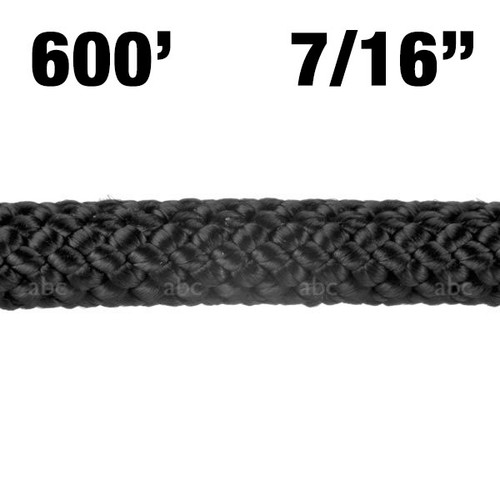 "Rope -- BlueWater -Assaultline - 7/16"" - Black - 600'"