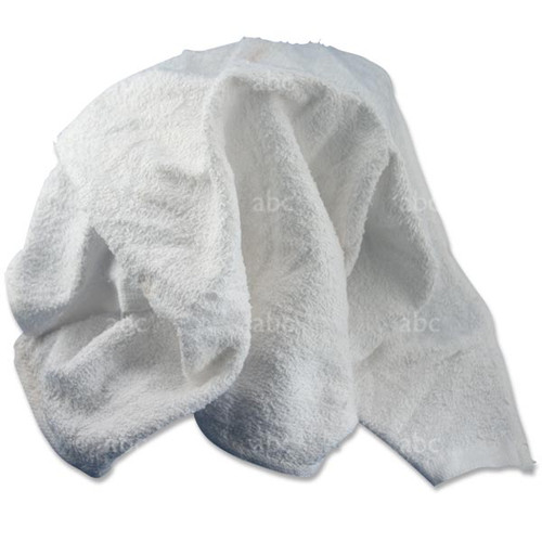 Towel -- Terry Turkish Towels - White - New - 10 Pounds
