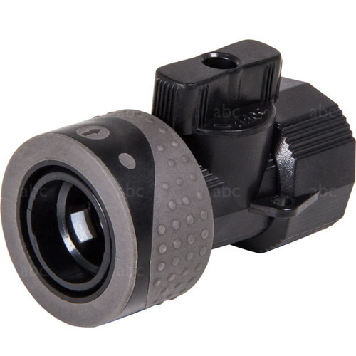WaterFed ®- Hose Fittings - Shut-off Valve - Connects Exel Pole end to Standard Garden Hose