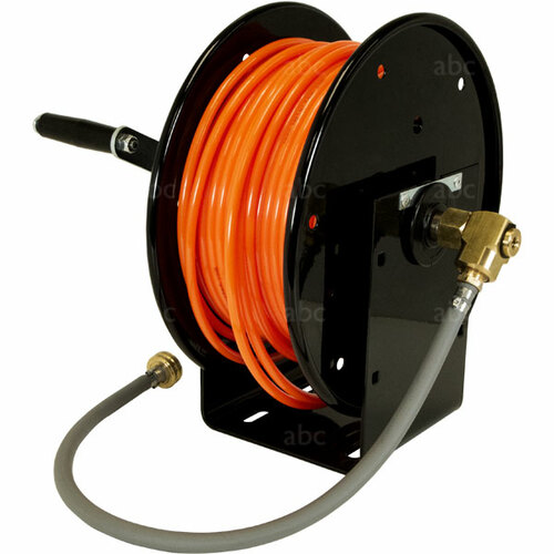 """WaterFed ® - Black Cox Mini Hose Reel with 166' of 5/16"""" Pole Tubing"""