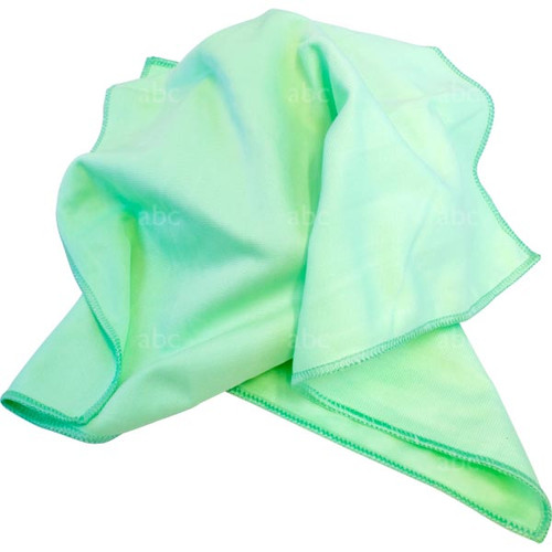 "Towel -- Microfiber - Triple Crown - Green - 16"" x 16"" - Each"