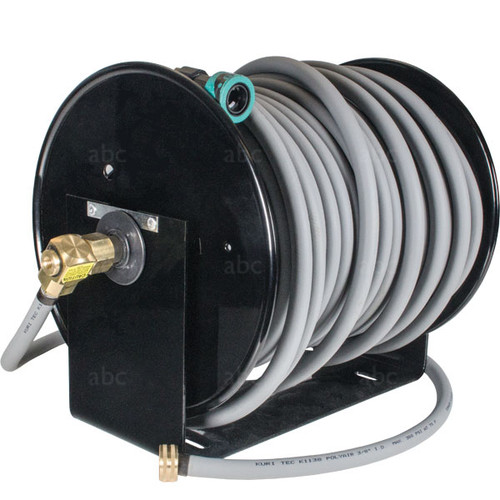 "WaterFed ® - Black Cox Hose Reel with 166ft of 3/8"" Hose"