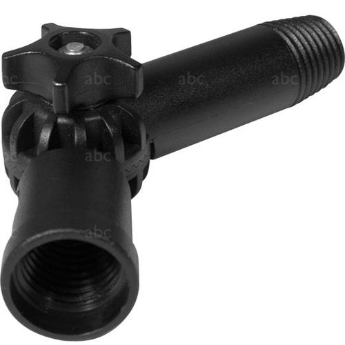 WaterFed ® - Pole Accessories - Adjustable Angle Adapter - abc - Euro threading on both ends - NO Hole