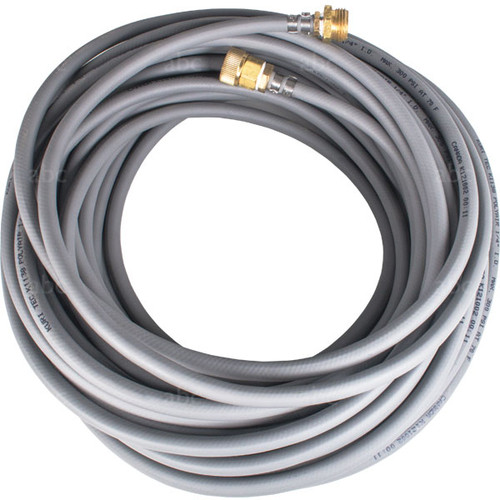 "WaterFed ® - Hose - 1/4"" - Pole Hose with garden hose fittings - Gray - 100'"