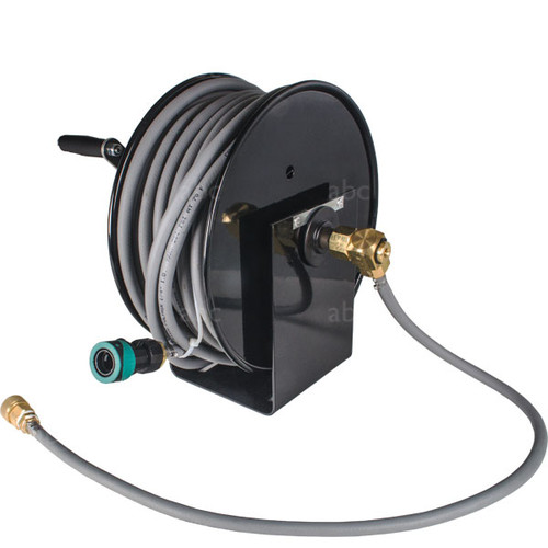 "WaterFed ® - Black Cox Mini Hose Reel with 100' of 1/4"" Hose"