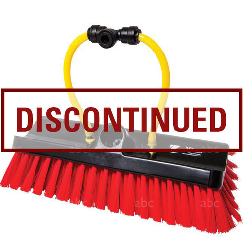 """DISCONTINUED BY ABC - WaterFed ® Brush 9.5"""" Radius-Vikan Red Polyester Bristle - Pencil Jets"""