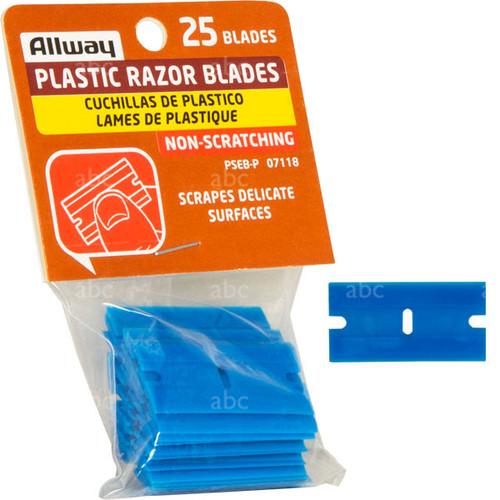 25 Pack - Plastic Razor Blades & individual blade