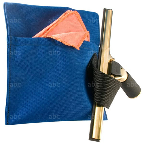 abc Single Pocket Blue Window Cleaner Pouch With 1 Loop