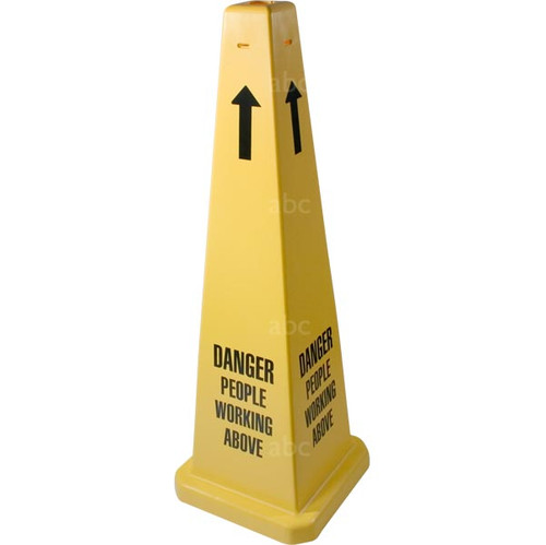"Cone -- 35"" Safety Cone - DANGER PEOPLE WORKING ABOVE - formerly 3005563-01 - Each"