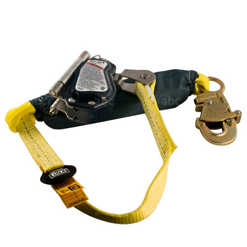 "Grab w/ Lanyard -- 5/8"" Rope - Capital Safety  - 3' Shock Absorbing Lanyard"