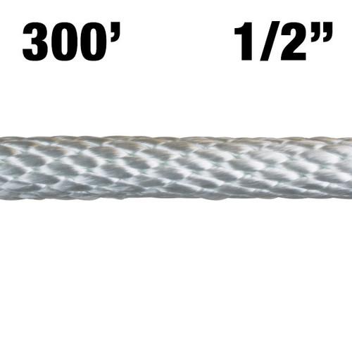 "Rope -- Solid Braided Nylon - 1/2"" - 300' - White"