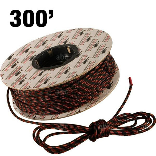 Accessory Rope -- New England Ropes - 4mm - Black with Orange Tracer - 300'