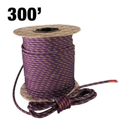 Accessory Rope - New England Ropes - 6mm - Purple with Gold Tracer - 300'