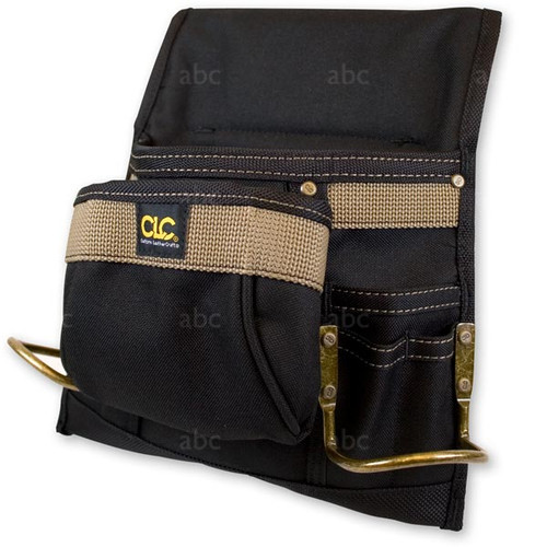 Pouch -- Brown Polyester - 6 Pockets & 2 Metal Loops - Order Belt Separately