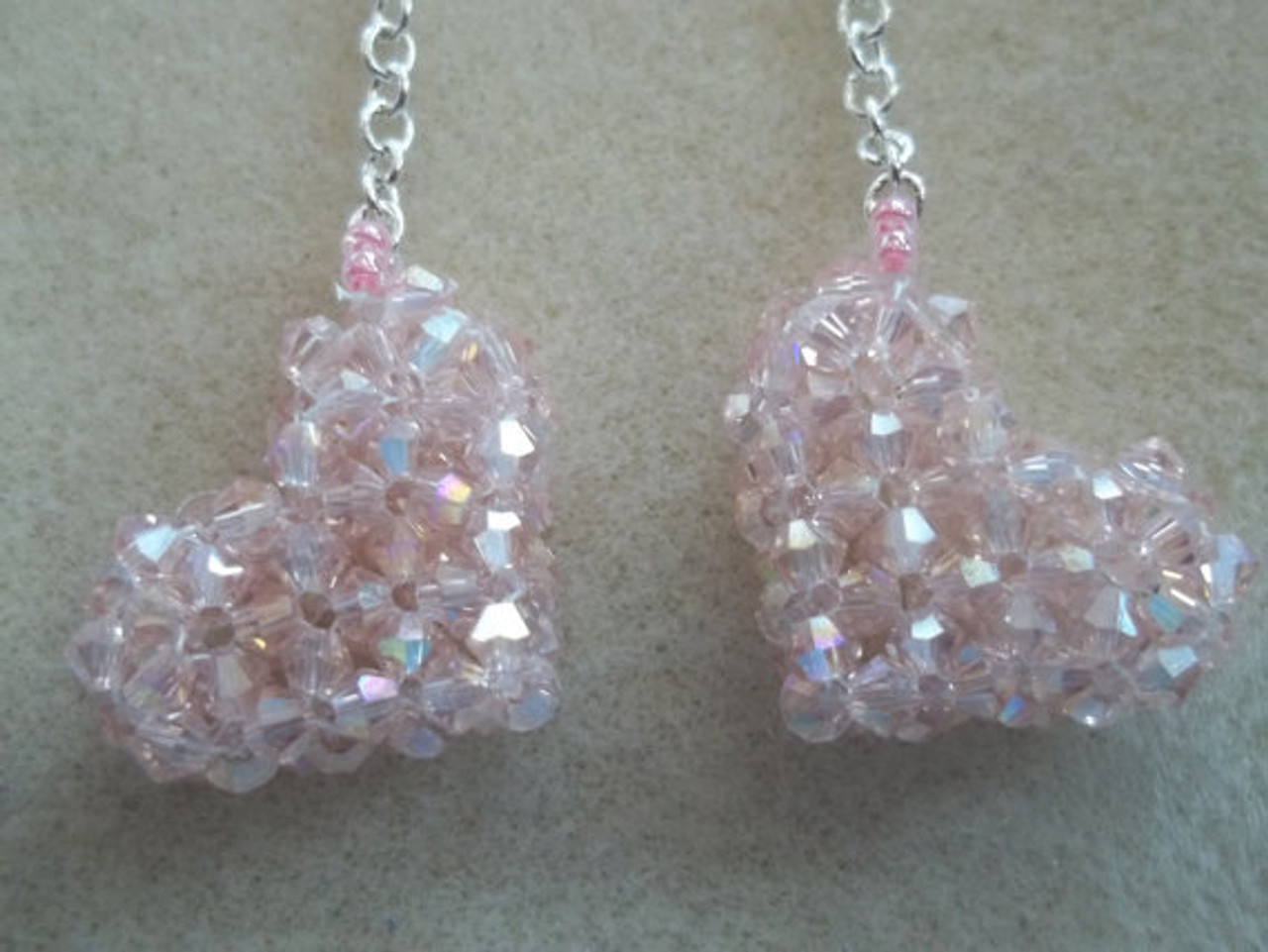 3-D Heart Earrings Tutorial