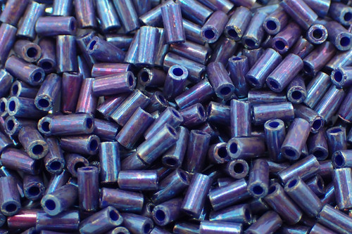 #1 3mm Metallic Midnight Purple Miyuki Bugle Beads 4144