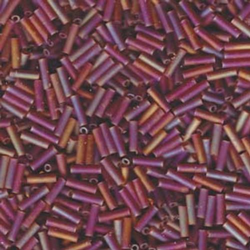 #3 6mm Transparent Dark Topaz AB Miyuki Bugle Beads (9134fr)
