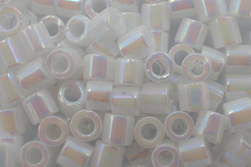 8/0 White Pearl AB Delica dbl-0202-tb (8 Grams)