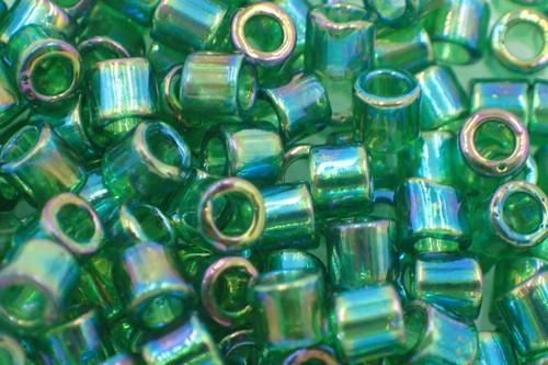 8/0 Transparent Green AB Delica dbl-0152-tb (8 Grams)
