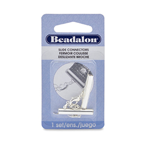 Beadalon Silver Plated 25mm Slide Connector (1 Set) 324B-064