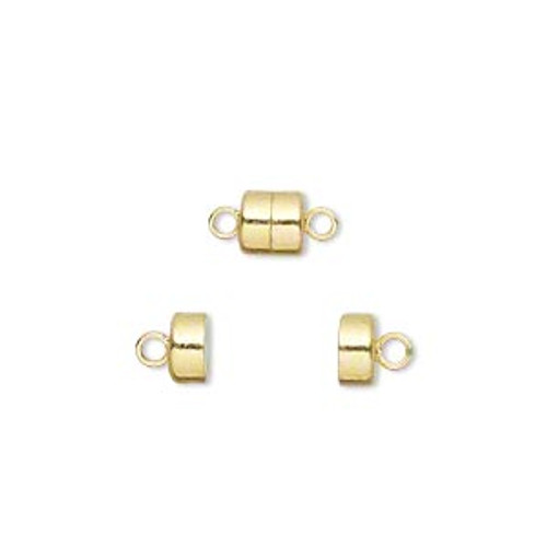 6x5mm Gold Plated Magnetic Clasp (2 Sets)