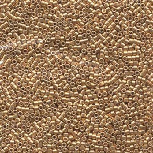Galvanized Yellow Gold 11/0 Delica Beads db410 (8 Grams)