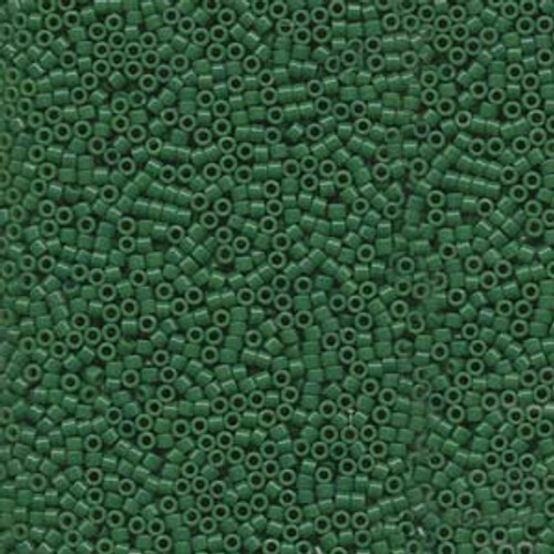Dyed Opaque Jade Green 11/0 Delica Beads db656 (8 Grams)