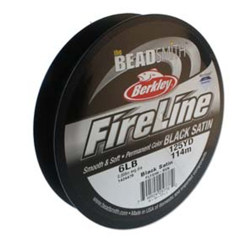 6lb 125yd Black Satin fireline