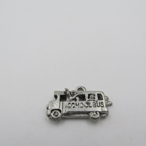 School Bus Pewter Charm 4097