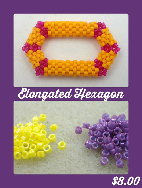 Purple & Yellow Elongated Hexagon Kit