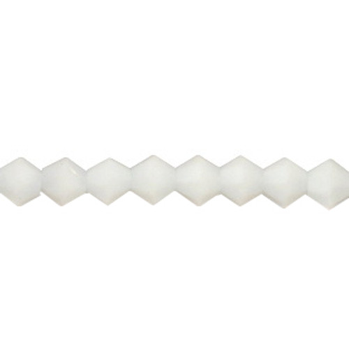 3mm White Jade Thunder Polish Bicone