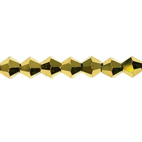 6mm Gold Thunder Polish Bicones