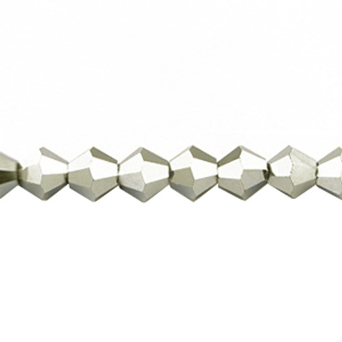 6mm Silver Thunder Polish Bicones