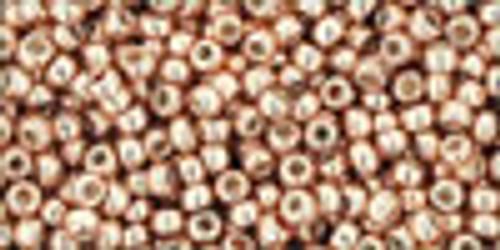 11/0 PF Galvanized Rose Gold Seed Beads Toho (22 Grams) 11-PF551