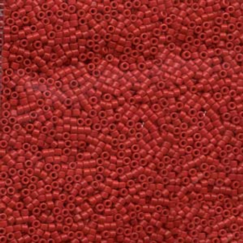 Opaque Red 11/0 Delica Beads db791 (8 Grams)