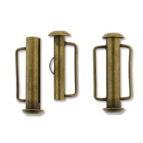 21.5mm Antique Brass Slide Bar Clasp 165