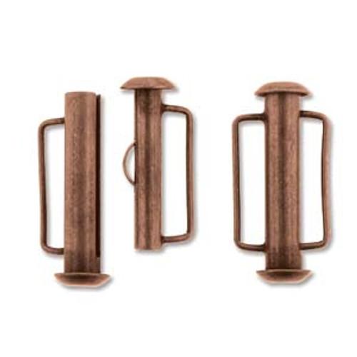 21.5mm Antique Copper Slide Bar Clasp